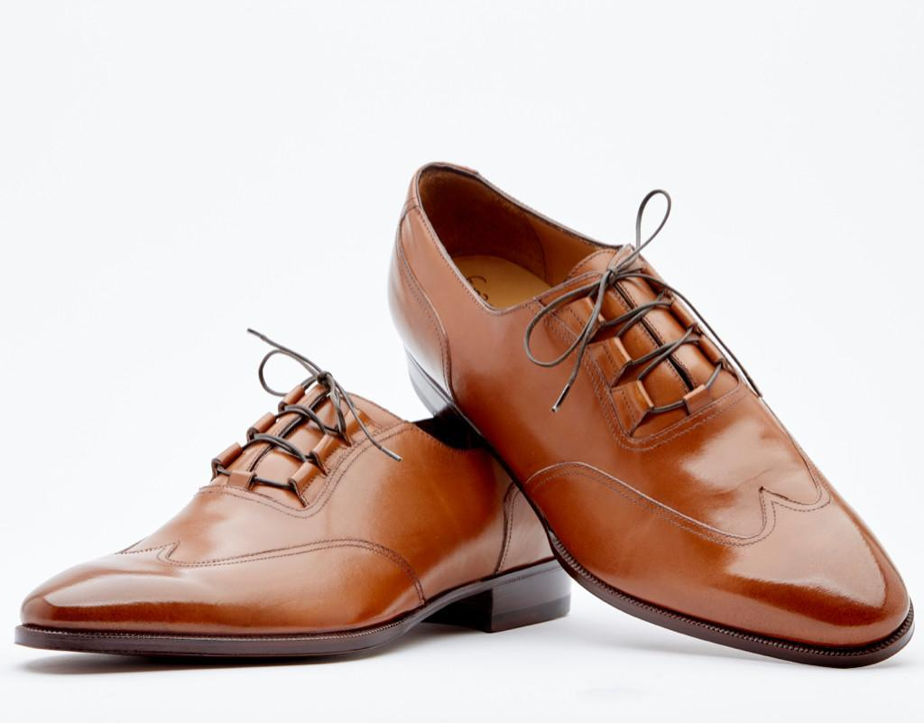 Ghillie Austerity Brogue. Single Leather Sole. Blake 2-c Construction