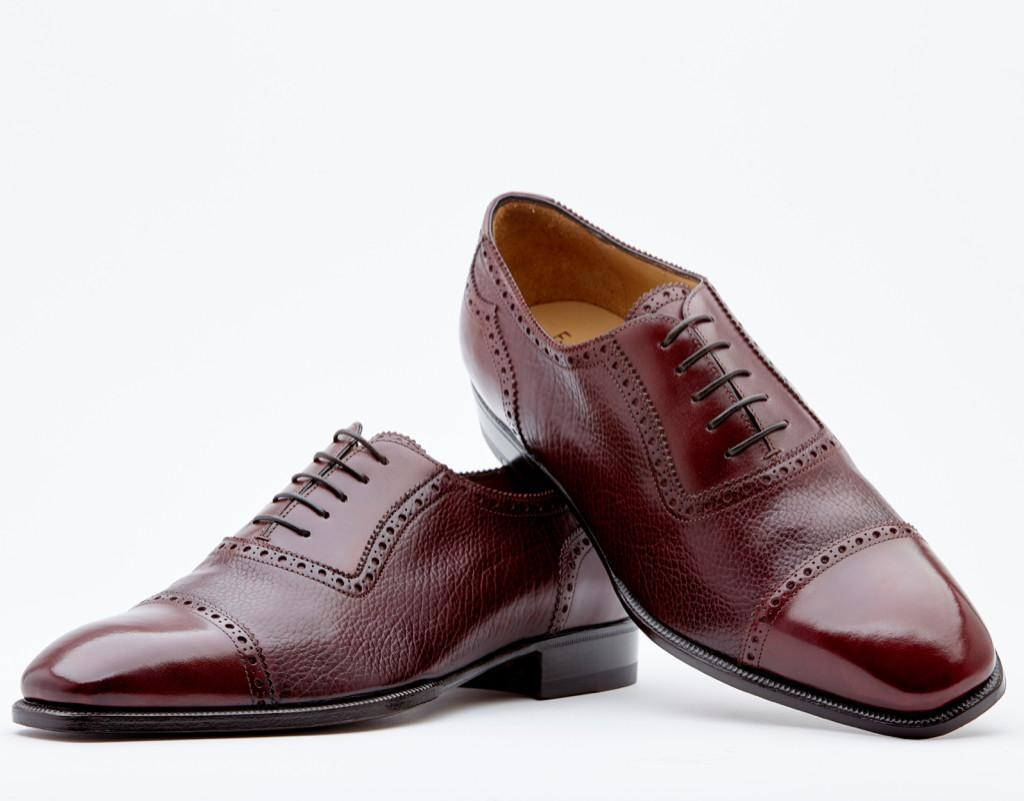Two Tone Adelaide With Peaked Counter Detail. Single Leather Sole. Blake 2-c Construction