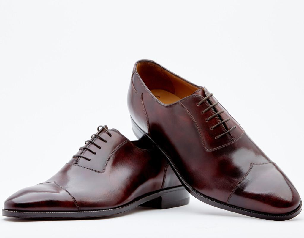 Adelaide With Peaked Counter And Peaked Cap Toe. Single Leather Sole. Blake 2-b Construction
