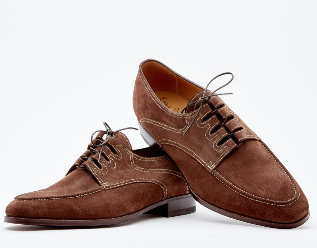 Derby Ghillie With Hand-stitched Apron. Single Leather Sole. Blake 2-c Construction