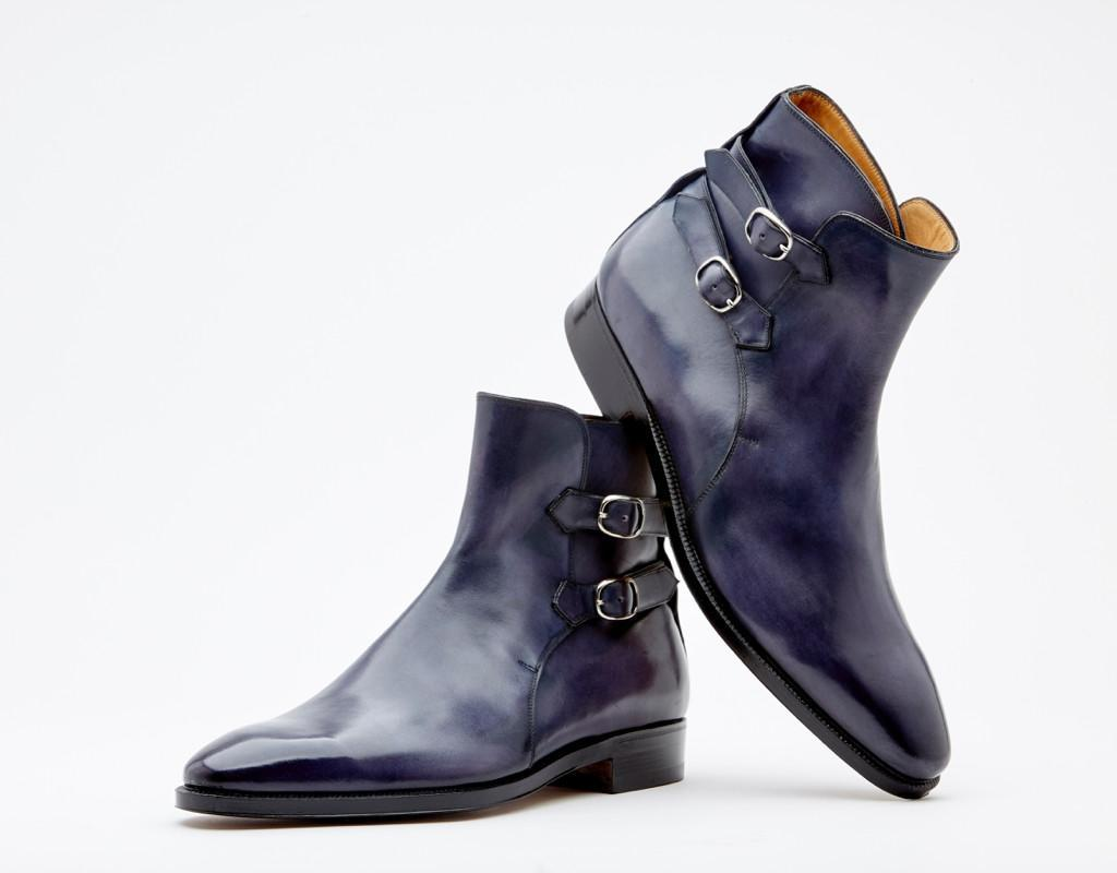 Double Strap Boot. Single Leather Sole. Blake 3-a Construction
