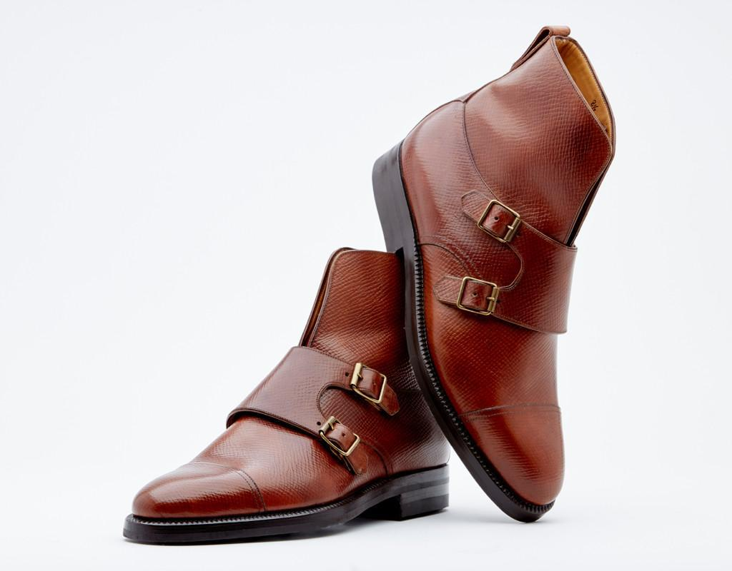 Double Buckle With Raised Shafts. Genuine Dainite Sole. Blake 3-a Construction